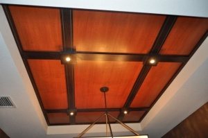 Coffered ceilings--these are found now in high end new construction homes also