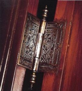 Eastlake Victorian hardware- door hinge