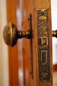 Eastlake Victorian hardware - door knob