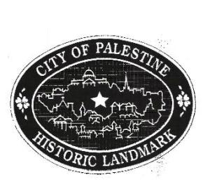 City of Palestine Historic Landmark Plaque
