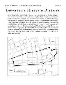 Downtown Historic District (Commercial Real Estate)