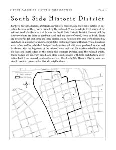Southside Historic District Map