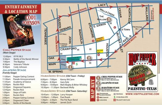 Event Map (Click to Enlarge) Image Courtesy of the City of Palestine