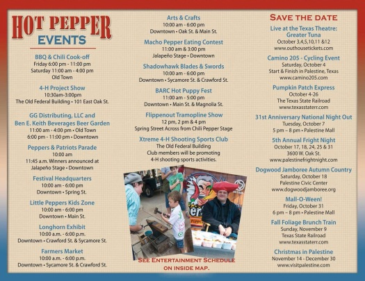 Hot Pepper Festival 2014 Brochure of Events! Courtesy of the City of Palestine