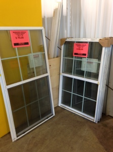 These windows were in the clearance section. Score!