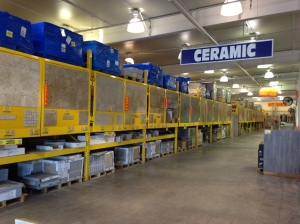 The Ceramic Tile Aisle. It's much larger than what is pictured. Lots of great options