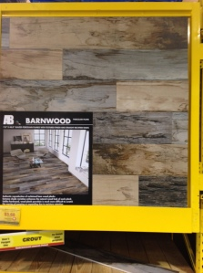 LOVE this new style of flooring--looks like barnwood! How cool!