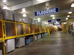 Every type of flooring you could want--ceramic tile, carpet, vinyl, wood, etc!