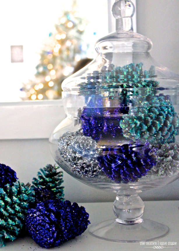 A fresh spin on pine cones! Check out the Full Tutorial at The Homes I Have Made Blog!