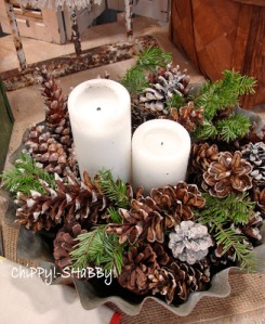 pinecone centerpiece
