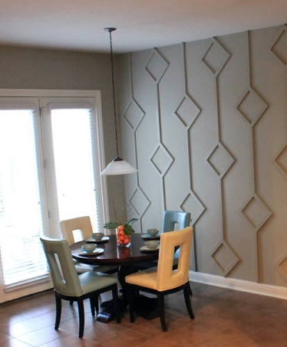 This is so cool! Can you believe this is a DIY for $130?! What a big impact and way cheaper than large artwork! Checkout the tutorial by Kate Pruitt on Design Sponge.